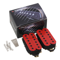 Ceramic Magnet Red Noiseless Guitar Humbucker Bridge Neck Pickup Set