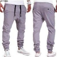 1pcs Korean Men Casual Elastic Cloth Trousers Low Crotch Collapse Harem Boots Pants Dance Big Crosspants