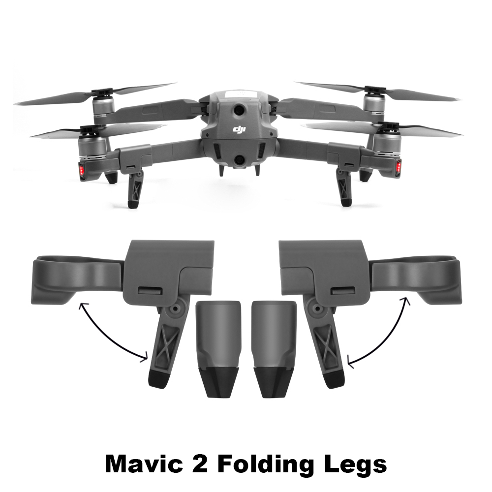 Mavic 2 Drone Landing Gear Kits Folding Heighten Protector Support Portable Landing Legs For DJI Mavic 2 Pro/Zoom Spare Parts