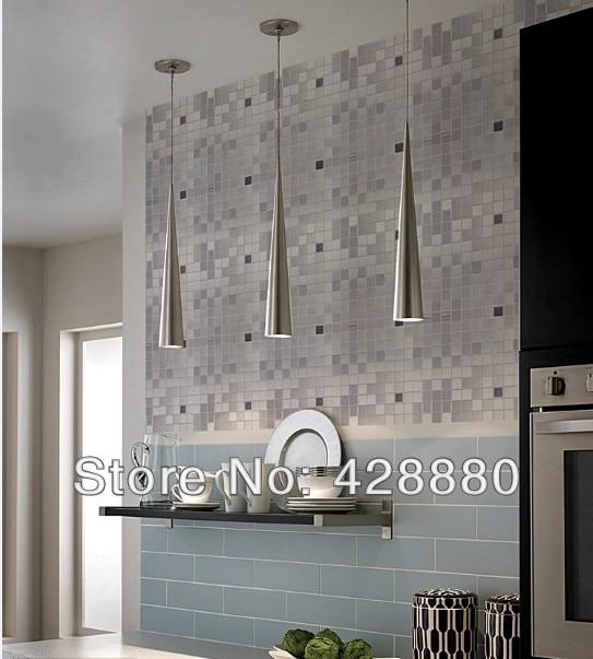 Metal Mosaic Tile Sheets Grey Metallic Kitchen Wall Tiles Backsplash Stickers Adhesive Stainless Steel 6105 On Aliexpress Alibaba