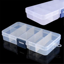 High Qulaity 10 Compartments Fishing Lure Hook Bait Box Transparent Plastic Storage Container Case Fish Lure Tackle Box