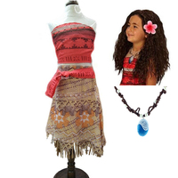 2017 Summer Children Moana Dress For Girls Adventure Outfit Girls Moana Princess Dresses Kids Party Cosplay