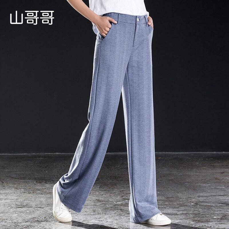 a4e4d101d5 Suelto Cremallera Con Casual Calidad De Cintura Mujeres Completa Bolsillos  Longitud Pantalones Suave Recta Sólida Alta ...
