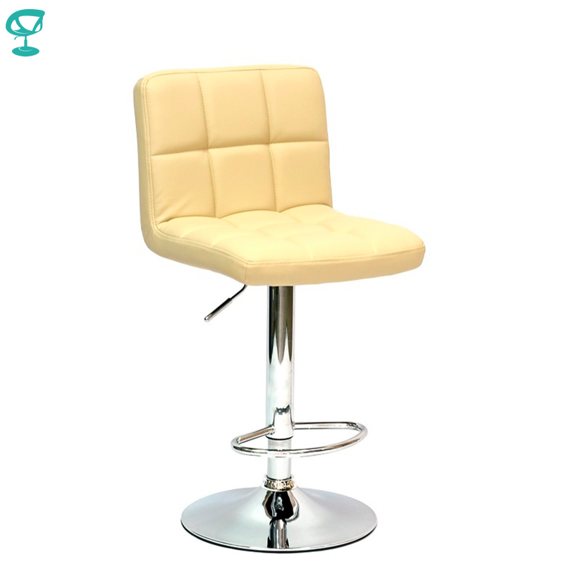 94911 Barneo N-47 Leather Kitchen Breakfast Bar Stool Swivel Bar Chair Beige Color Free Shipping In Russia