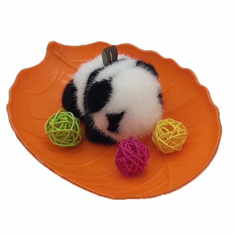 Mink Hair Pendant Daemotu Panda Adorkable Cute Panda for Key Bag Car Mobile Phone Hair Mini Chirsitmas Gift NEW YEAR