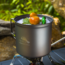 Oaks outdoor cooking utensils of pure titanium pot Cup single lightweight health non-toxic cup