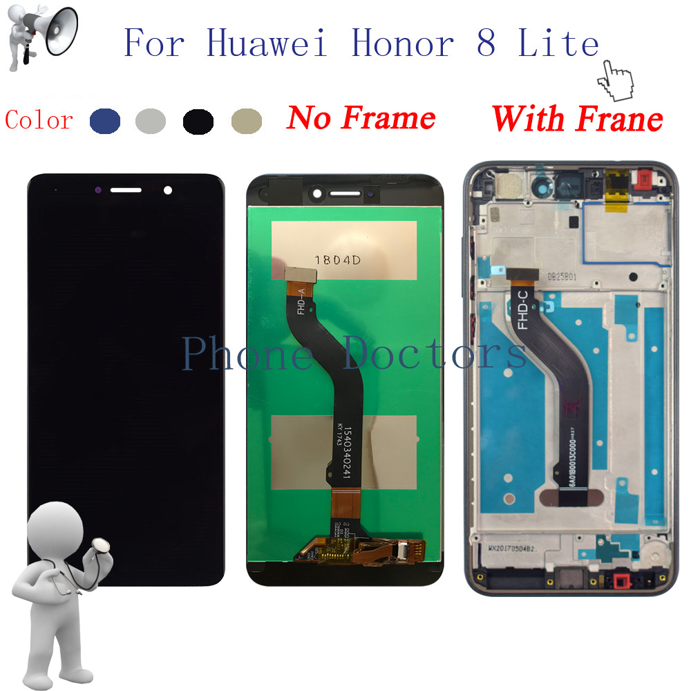 LCD+Frame For Huawei honor 8 lite / nova lite WAS-LX1A PRA-LX2 LCD Display Touch Screen Digitizer AssemblyLCD+Frame For Huawei honor 8 lite / nova lite WAS-LX1A PRA-LX2 LCD Display Touch Screen Digitizer Assembly
