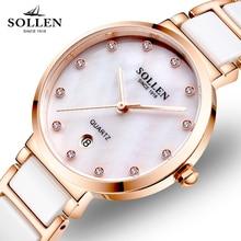 368566a3be5 Relogios Femininos Nova Marca de Luxo Mulheres Relógio de Vestido De  Cristal de Quartzo Pulseira de