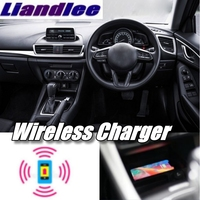 Liandlee Wireless Car Phone Charg er Armrest Storage Compartment Fast qi Charging For Mazda 3 Axela BM BN 2013~2019