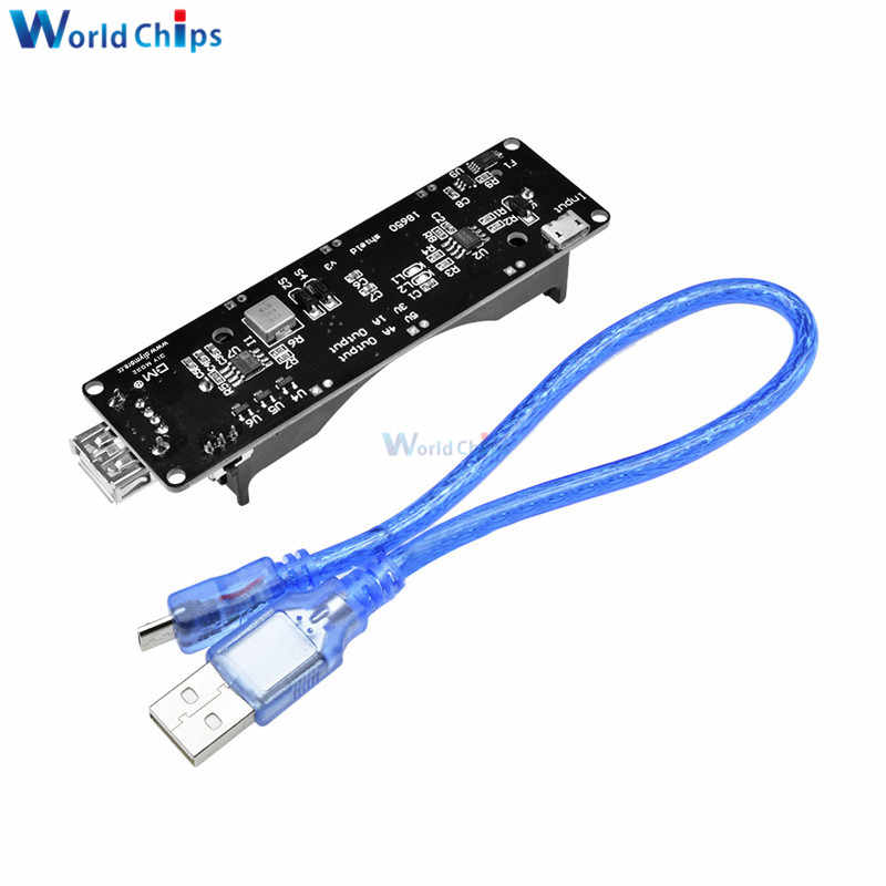 18650 Battery Charge Shield Board V3 ESP32 ESP32S For Wemos For Raspberry Pi Micro USB Port Type-A USB 0.5A For Arduino Charge