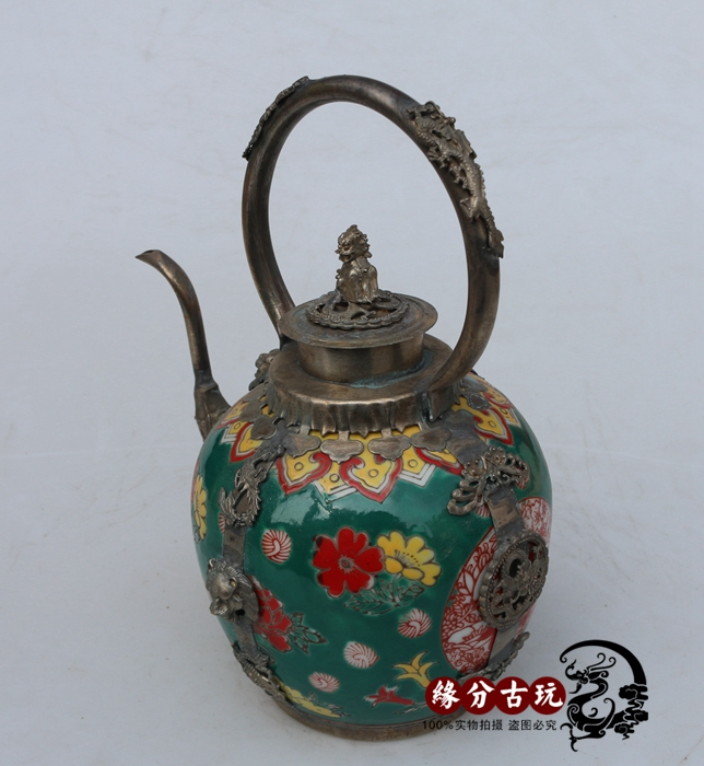 plateado ollas baitou paquetes de plata miao yu hu bao paquete plata verde tetera decoracin vino