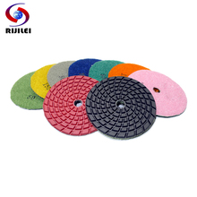 (4DS6) Free shipping 7 pcs/lot 4inch/100mm high strength polishing pads fit hard diamond and granite,concrete