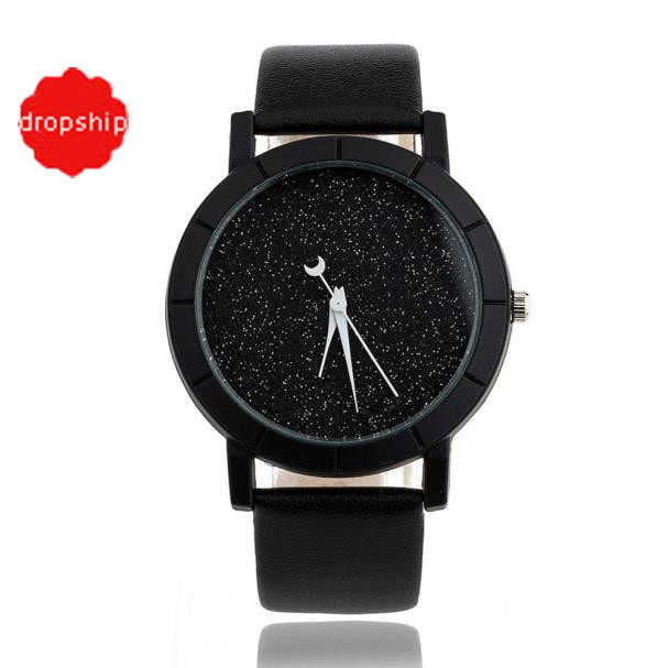 Best Cheap Price Star Minimalist Fashion Watches For Lovers Leather Strap Lady H