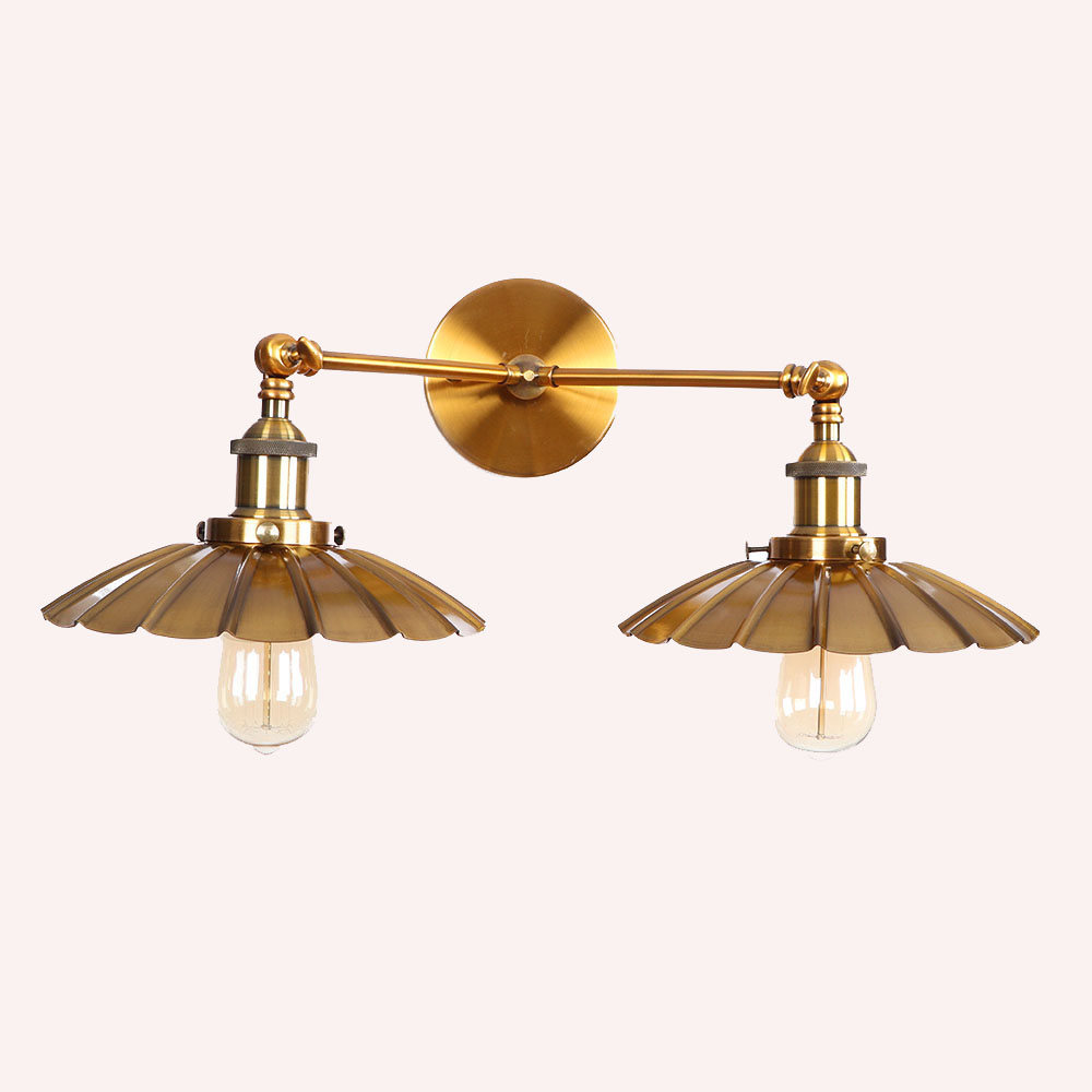 Vintage Wrought iron wall lamps nordic simple restaurant cafe store bar aisle corridor double heads wall light lighting fixture wrought iron upscale led lighting lamps and lanterns chandelier bar creative aisle restaurant lights coffee light cafe bar lamp