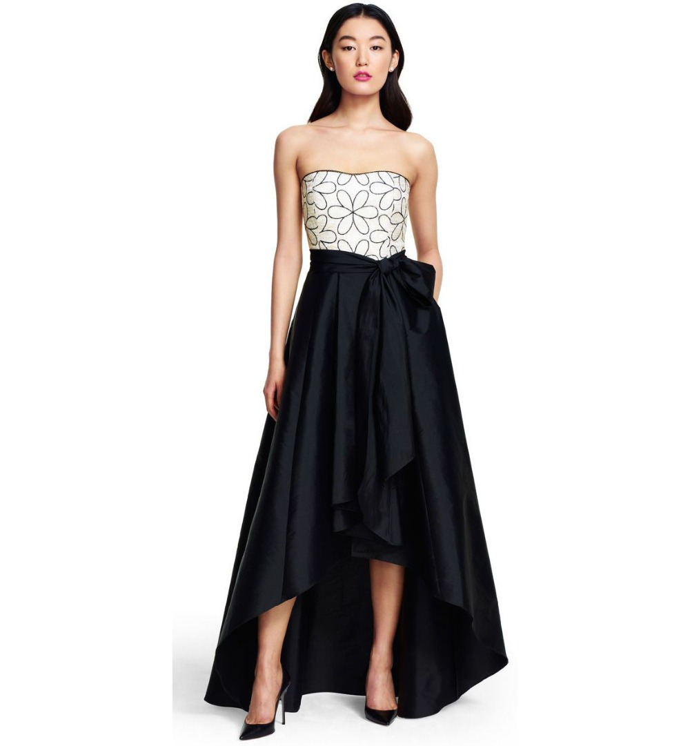 Popular Long Bow Pleated High Low Skirts-Buy Cheap Long Bow ...
