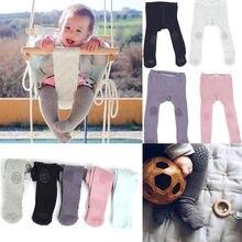Новые осенне-зимние детские леггинсы стильные колготки для новорожденных девочек хлопковые Стрейчевые теплые штаны для детей от 0 до 24 месяцев