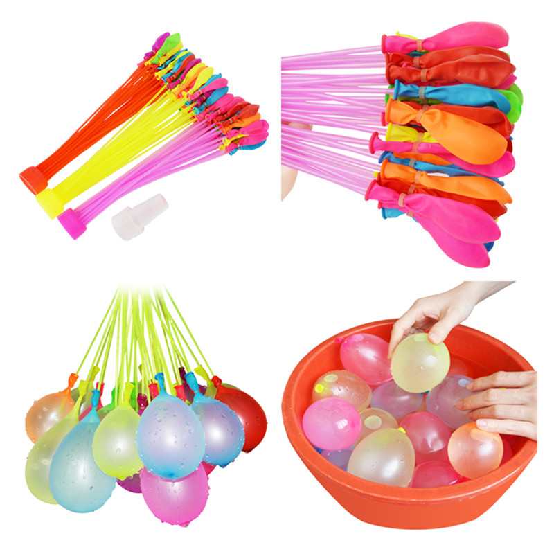 111pcs/bag Filling Water Balloons Funny Summer Outdoor Toy Balloon Bunch Water Balloons Bombs Novelty Gag Toys For Children  ...