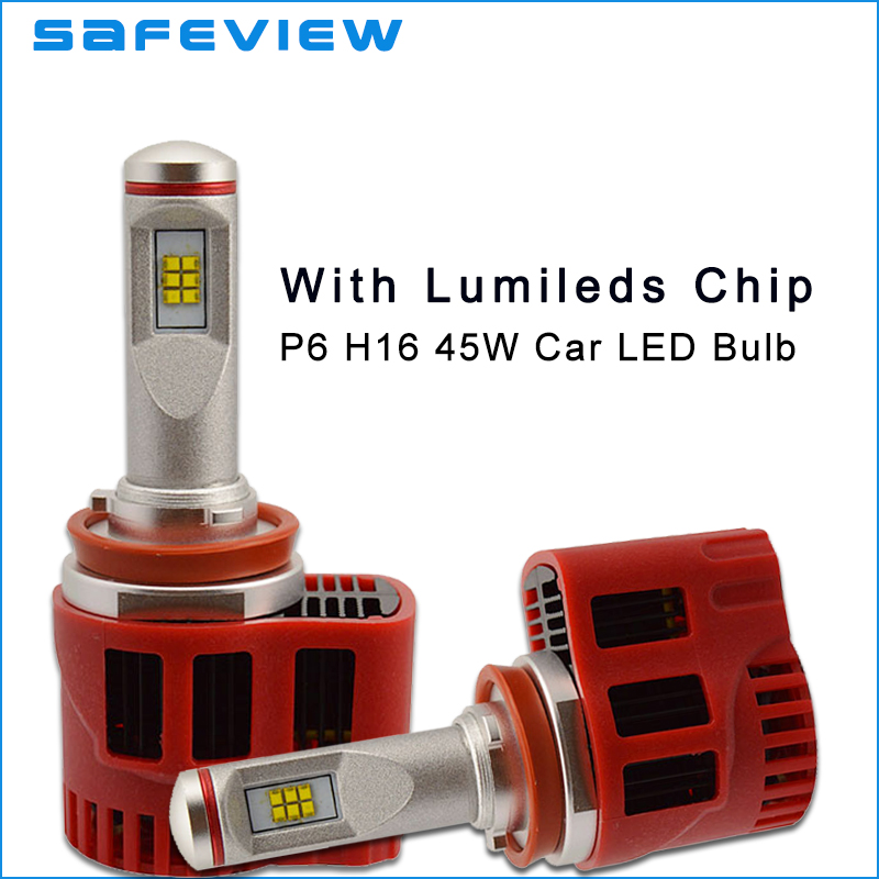 ФОТО Strong quality LED H11 Headlight Bulb Luxeon ZES Chip 6000K 90W 9000LM Single Beam 1 pair led lamp for car and motorcycle