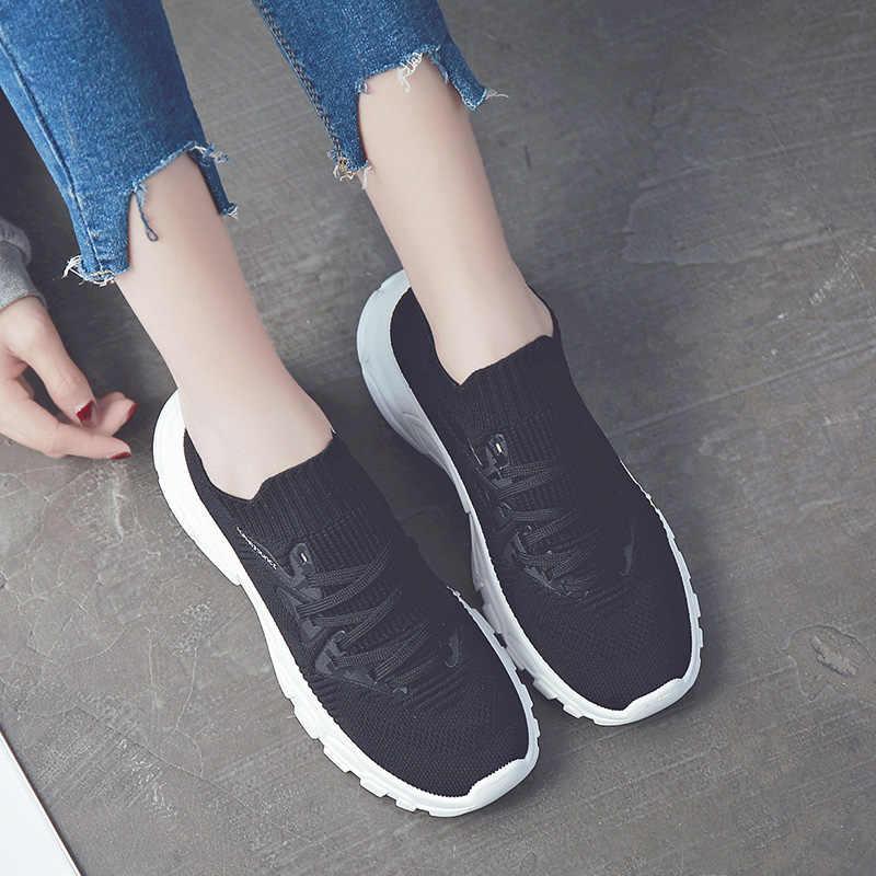 קיץ נשים של נעליים יומיומיות שחור גרבי נעלי אופנה פראי 2019 מזדמן שטוח נעלי גבירותיי גרבי מגפי חיצוני סניקרס אישה
