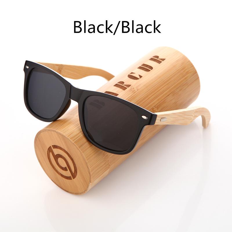 نظارة شمسية للرجال وللسيدات بعدسات بلورايزد واطار خشبي 7
