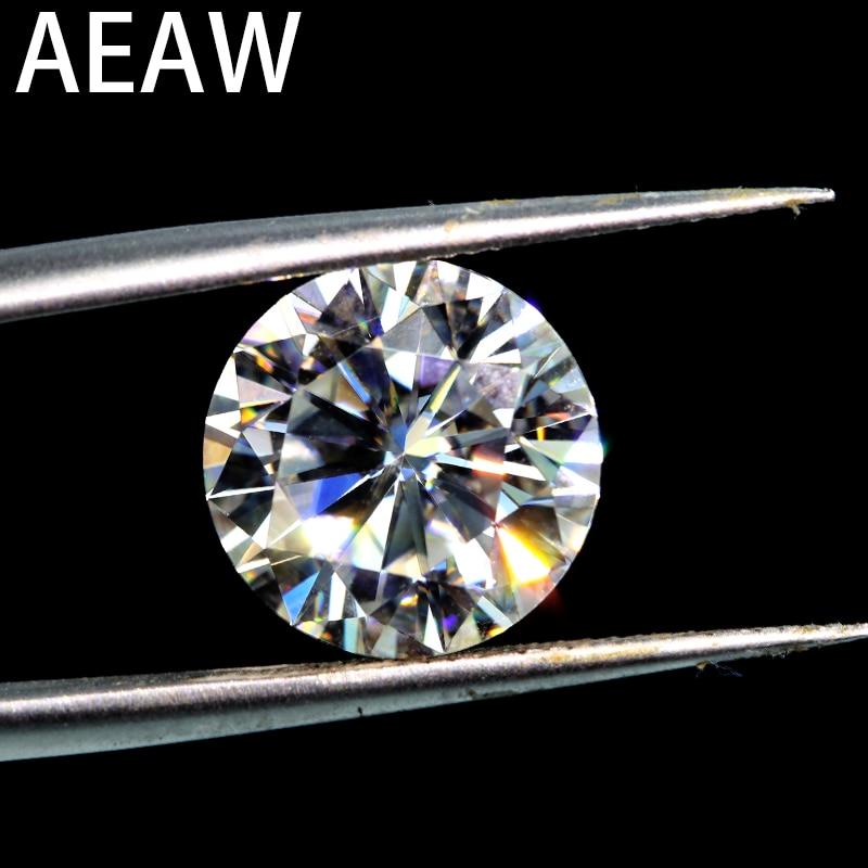 AEAW Semelhante para Sempre um 7.0 milímetros 1.2ct F Rodada Brilliant cut Moissanites Pedra Solta Beads para Fazer Jóias Varejo preço