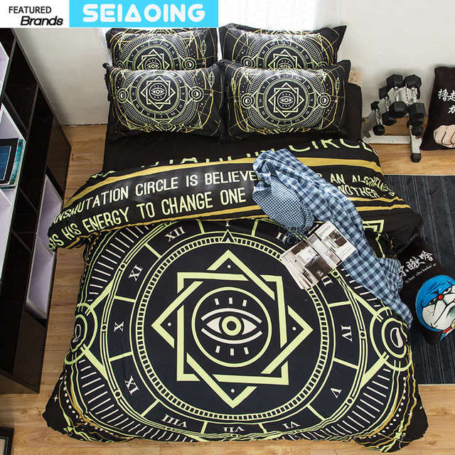 cute geometric bedding set boy 3d black cover twin full queen king size plaid bedspreads 34 pc magic bed linens