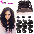 7A Peruvian Virgin Hair With Frontal Closure  Peruvian Body Wave With Closure 13x4 Ear To Ear Lace Frontal Closure With Bundles