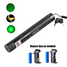 цена на 5mW Laser Pointer High Power 532nm 303 Green Laser Pointer Pen Adjustable Burning Match With Rechargeable 18650 Battery