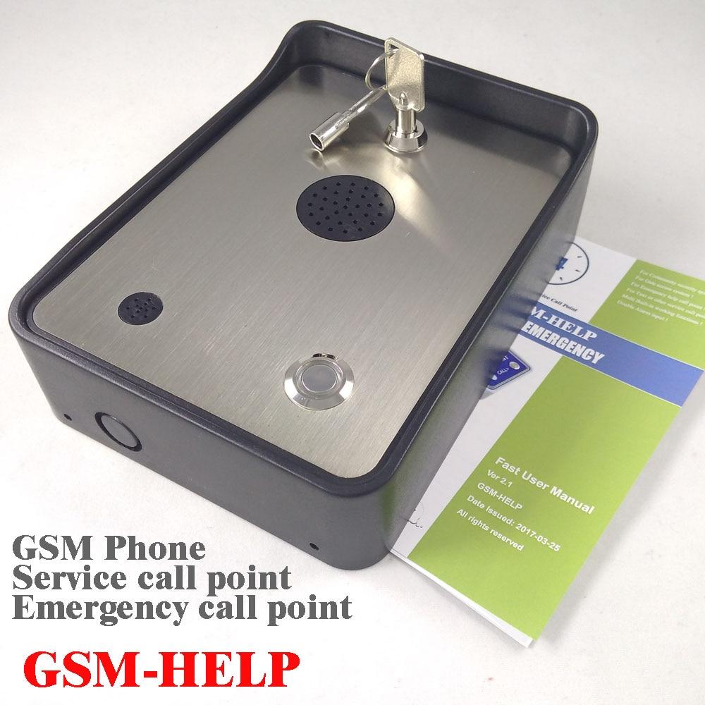 GSM community security alarm system audio intercom alarm emergency help calling phone service intercom 2016 rain proof gsm taxi freephone gsm help point handsfree intercom