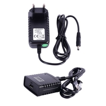 USB 2.zero LRP Print Server Share a LAN Networking Ethernet Hub Energy Adapter EU Plug