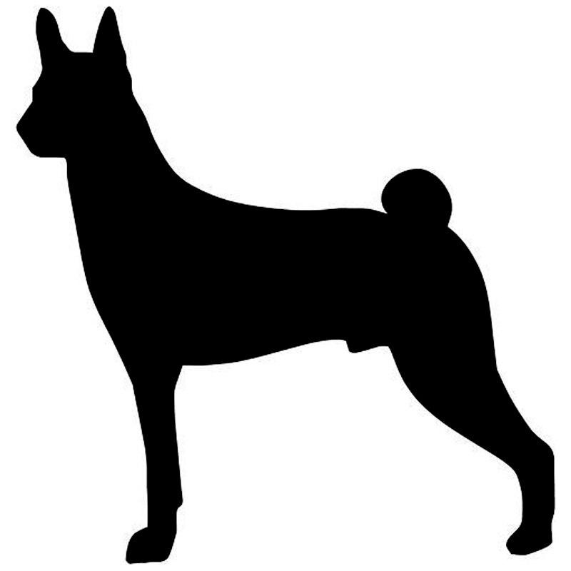 9.5*9.9 см Басенджи собака прекрасное животное окна автомобиля декоративные Наклейки моды автомобиля мотоцикла Интимные аксессуары c6-0155