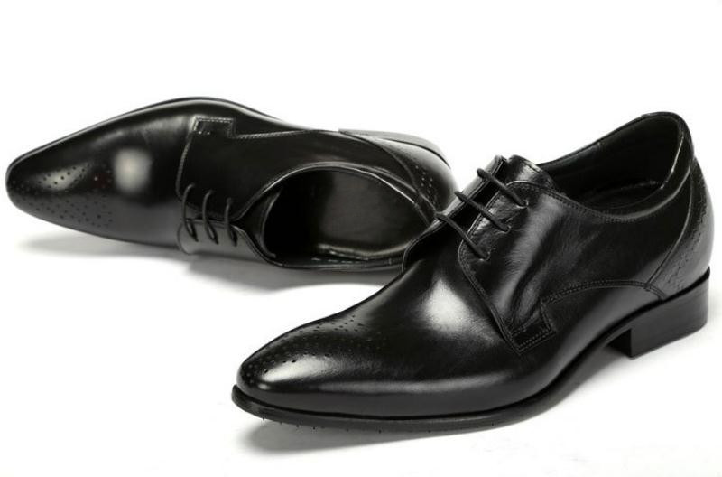 brown Altos Dos Aumento De Sapatas Altura Pretos Do Negócios Black Homens Couro Saltos Genuíno Novos Sapatos Homem Casamento Escritório Trabalho Vestido Da Dentro qBYvEYF