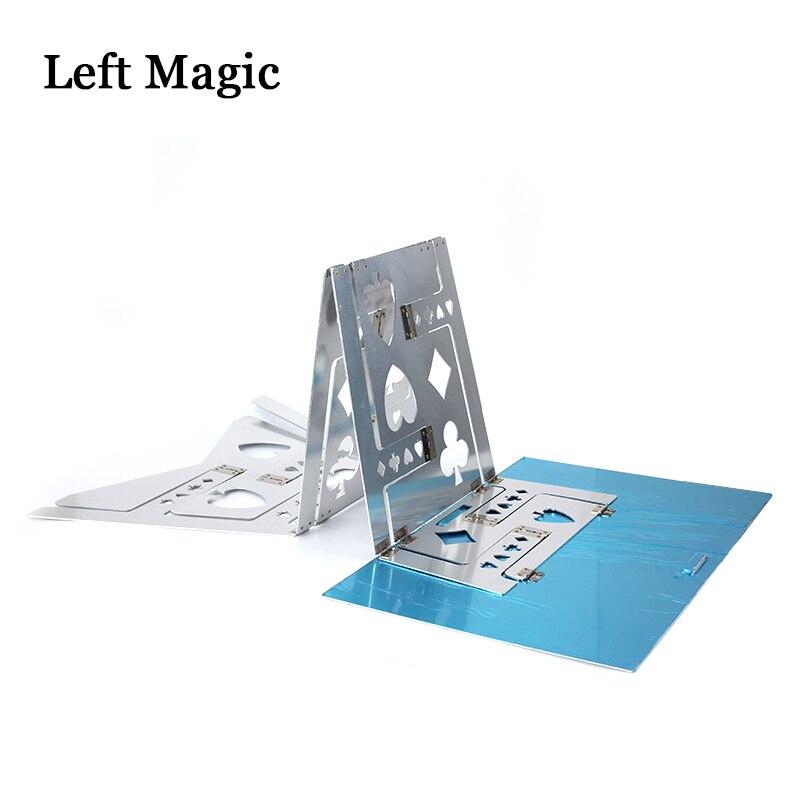 Table pliante magique en aluminium (alliage)-couleur argent tours de magie magicien meilleure scène de Table gros plan Illusions accessoires de magie - 3