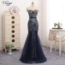 Changjie Prom Dress 2019 Floor Length Mermaid Evening Dress