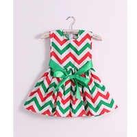 Marca de moda de algodão chevron imprimir o vestido da menina do bebê meninas vestidos de princesa crianças de volta à escola para crianças roupas vestidos infantis