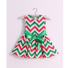 brand fashion cotton chevron print girl dress baby girls princess dresses kids back to school children