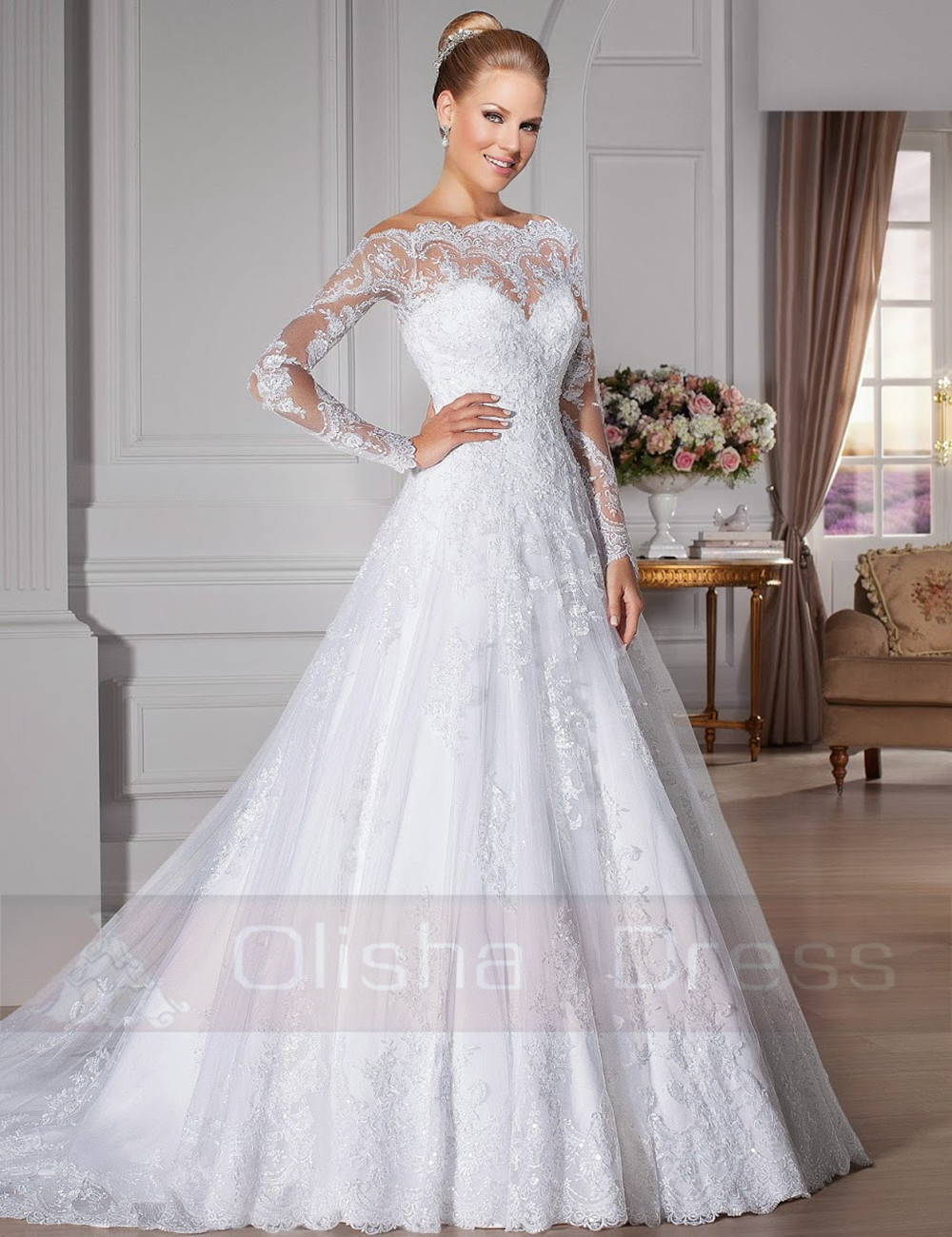 wedding gown lace overlay sweetheart lace wedding dress Bridal Gowns With Lace Overlay