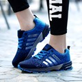 2017 Hombres Zapatos Casuales de primavera y Verano de malla amantes unisex zapatos Fly Armadura Luz Transpirable Zapatos de Moda Cómodo Entrenadores