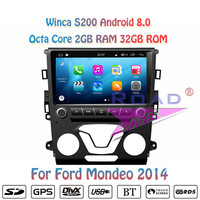 Winca S200 Android 8.0 Car DVD Player Autoradio For Ford Mondeo 2013 2014 Stereo GPS Navigation Magnitol 2Din 9 Octa Core Video