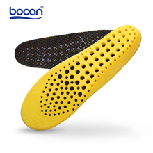 Купить с кэшбэком BOCAN breathable insoles sweat absorbing insoles for sport running anti-slip shoe pads for men and women