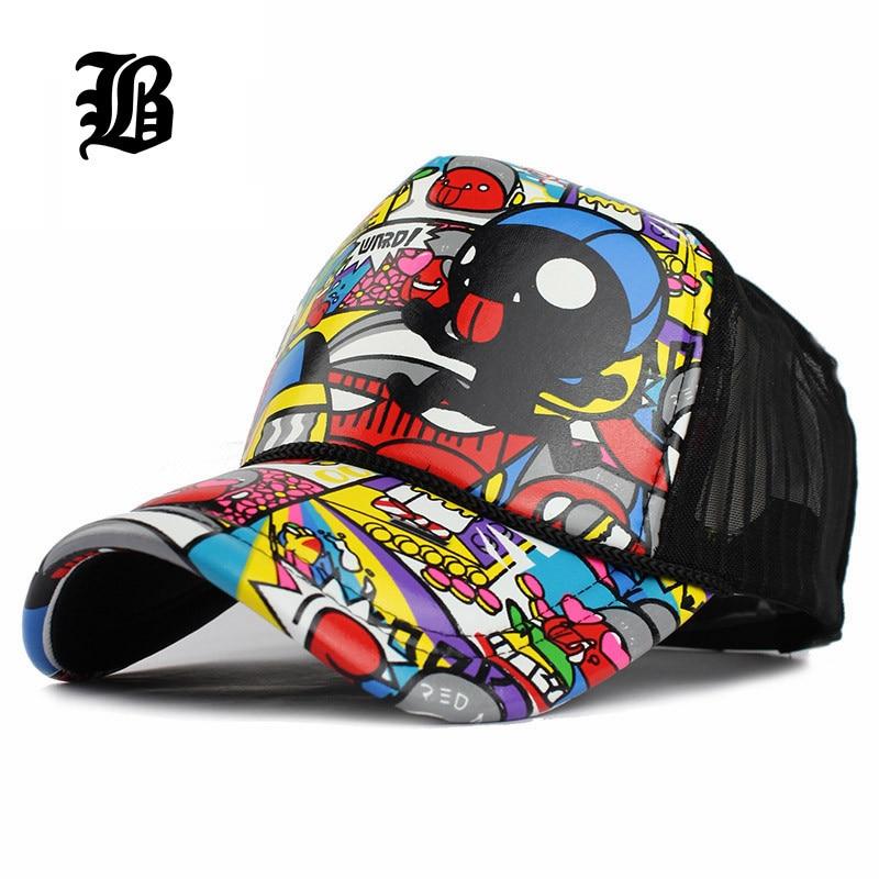Mesh-Cap Snapback Hat Baseball Trucker Hip-Hop Classic Vintage Fashion Women Unisex FLB