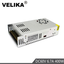 DC60V 전원 공급 장치 스위칭 6.7A 400W 드라이버 변압기 220V 110V AC DC 60V 전원 공급 장치 CNC CCTV 스테퍼 모터 DIY