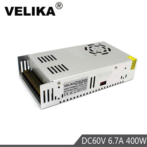 DC60V Power Supply Switching 6.7A 400W Driver Transformers 220V 110V AC to DC 60V Power Supplies for CNC CCTV Stepper Motors DIY(China)