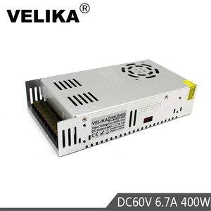 Image 1 - DC60V güç kaynağı anahtarlama 6.7A 400W sürücü Transformers 220V 110V AC DC 60V güç kaynakları CCTV için CNC step motorlar DIY