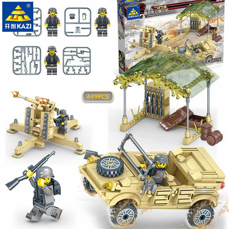 449 штук военный армейский ПВО зенитная пушка Набор строительных блоков Совместимость LegoINGLs создатель Развивающие игрушки для детей