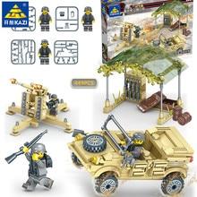 449Pcs Military ARMY Air Defense Antiaircraft Gun Building Blocks Sets LegoINGLs Creator Educational Toys for Children