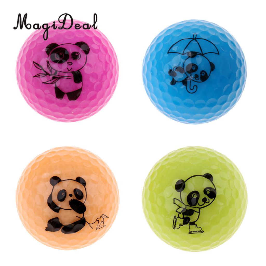 MagiDeal Durable Golf Driving Range Practice Ball Double Layer Distance Golf Ball Cute Panda Patterns - Choice of Colors ...