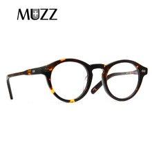 MUZZ óculos de Acetato de Moda óptica óculos de armação circular 2018  Marcas Homem e Mulheres óculos de leitura óculos frames f60bb98e5b