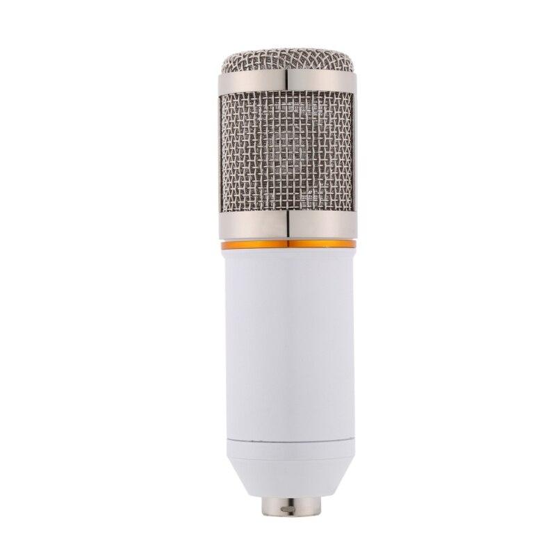 Micro à condensateur professionnel pour ordinateur Audio Studio enregistrement Vocal micro KTV karaoké ensemble de pied de Microphone - 5