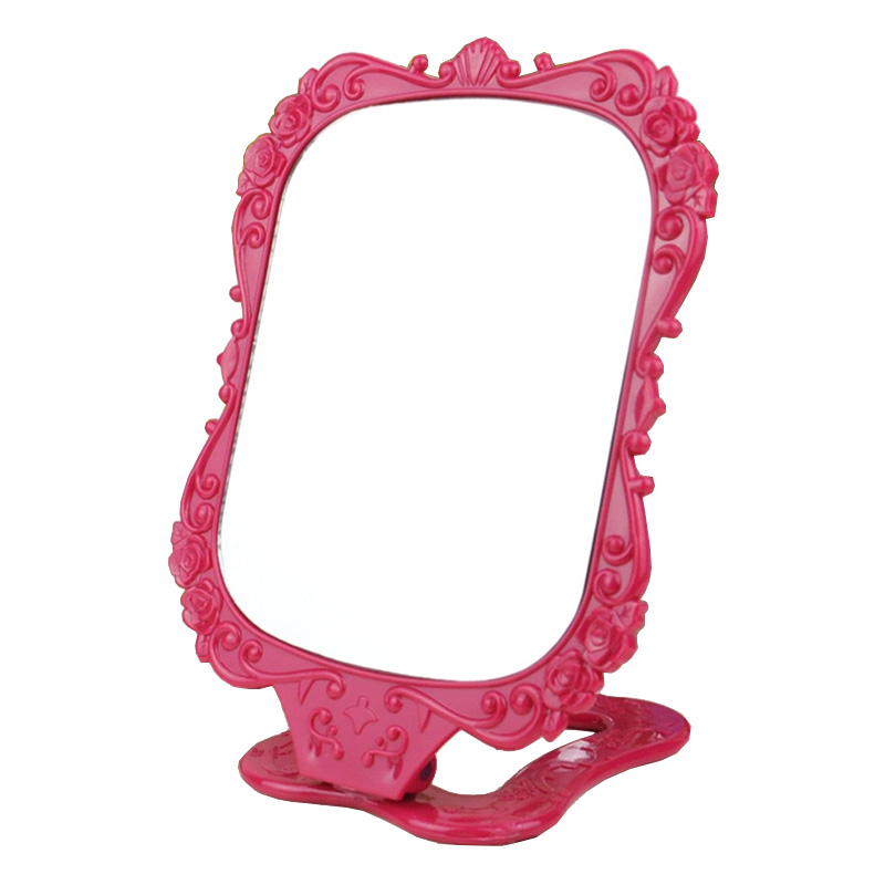 Black Butterfly Table Vintage Makeup Mirror Women Girls Hand Held Make Up Cosmetic Mirrors Portable Pocket Beauty Tools Travels in Decorative Mirrors from Home Garden